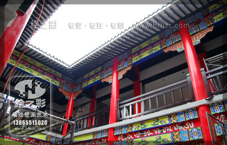 产品中心 古建筑彩绘 黄陂彭总别墅  古建筑彩绘,和玺彩绘,旋子彩绘
