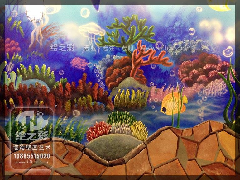 手绘3d海鲜立体画