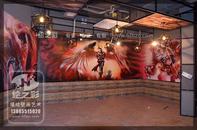 舞蹈室涂鸦手绘墙